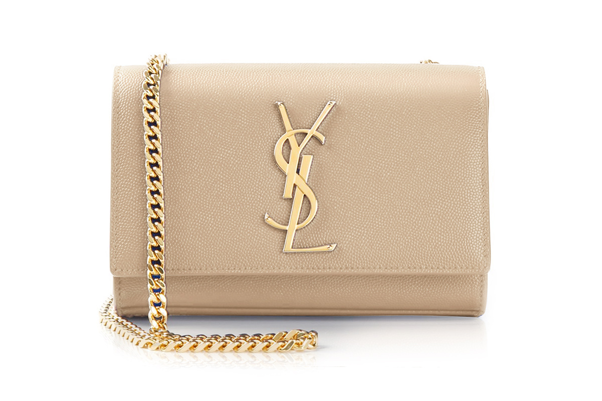 addf6d00f002 SAINT LAURENT. Classic Monogram Chain Shoulder Bag in Nude